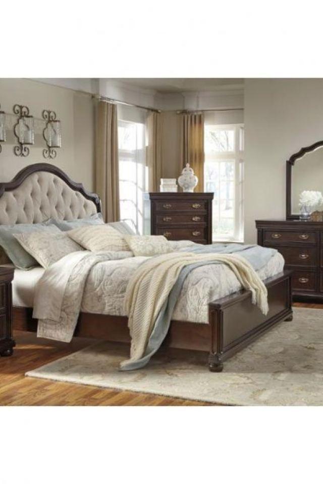 B596 57 Ashley Furniture Moluxy Dark Brown Bedroom Bed Lo