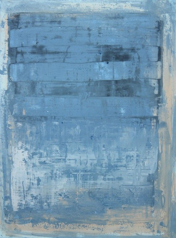 "Saatchi Online Artist: CHRISTIAN HETZEL; Mixed Media, 2013, Painting ""blue cube"""