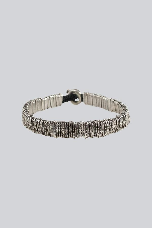 M Cohen Distressed Silver Barcode