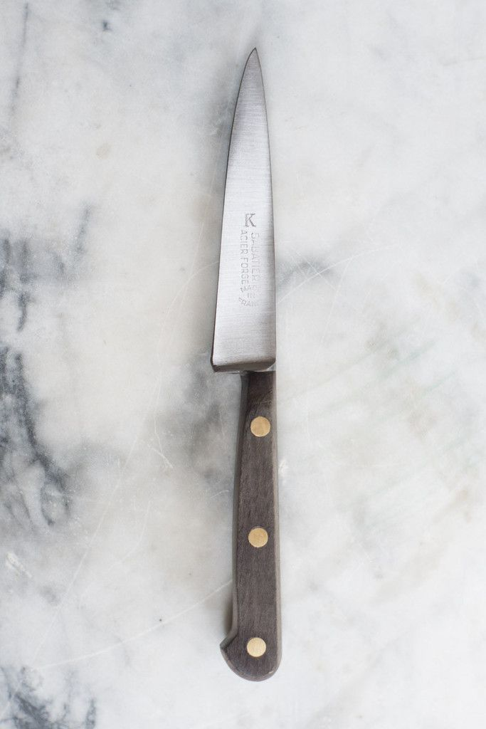 """A vintage paring knife from French atelier K Sabatier. Each knife is hand forged, pure carbon steel, considered """"new old stock""""."""