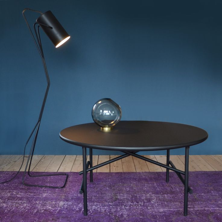 New Tab coffee table and Mii floor lamp from YLE collection by Peter Boy Design #coffeetable #newdanishdesign #yle #black #møbler #furniture #floorlamp #lamp