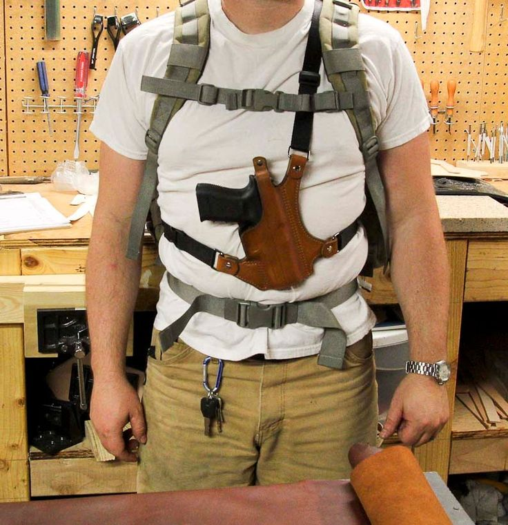 Leather Chest Holster From Clark Fork Leather | Leather ...