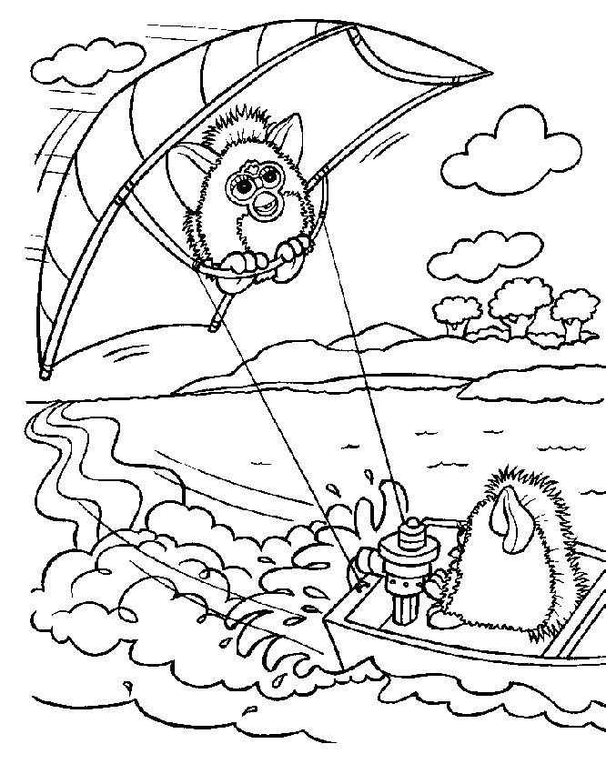 furby cartoon coloring pages | 72 best images about furby coloring pages on Pinterest