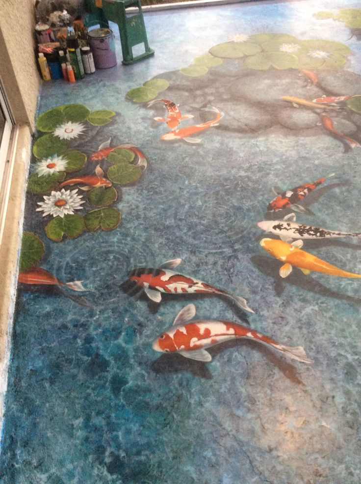 153 best images about pisos on pinterest for Koi pool paint