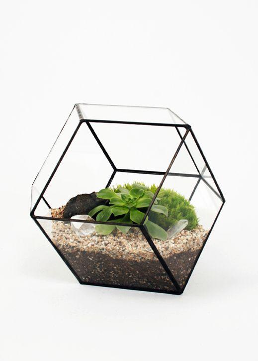 Lovely Handmade Geometric Glass Terrariums   Jeannie Huang