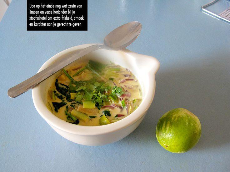 Appel-prei stoofschotel met kokosmelk / apple-leek stew with coconutmilk   Kantien Karolien