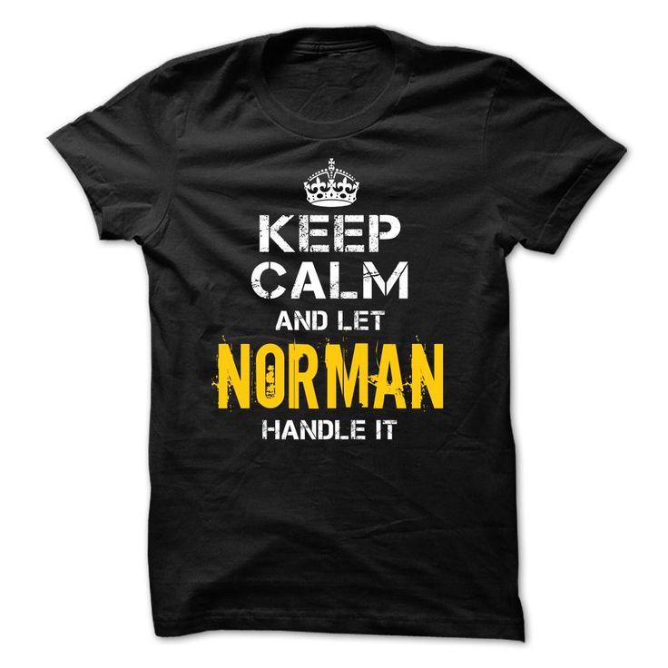 Keep Calm Let NORMAN Handle It