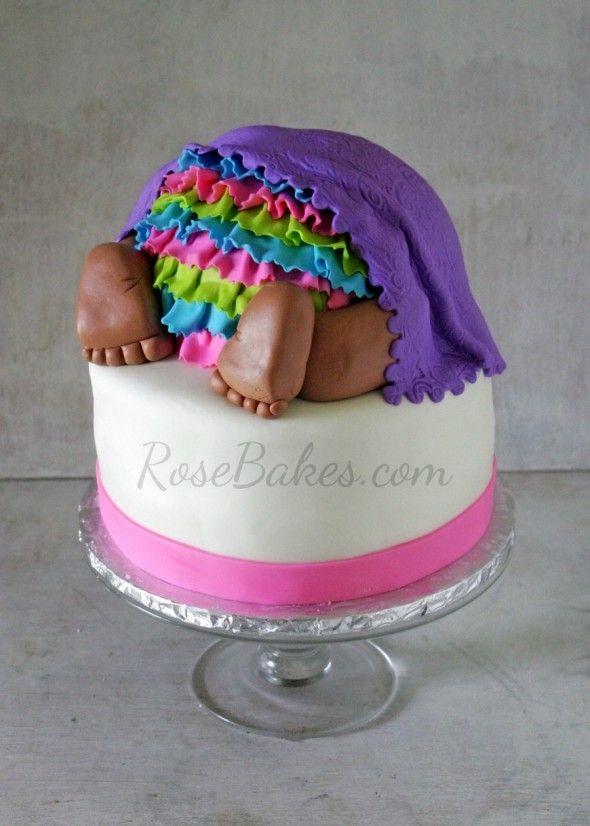 Rose Bakes   Baby Bottom Cake   http://rosebakes.com