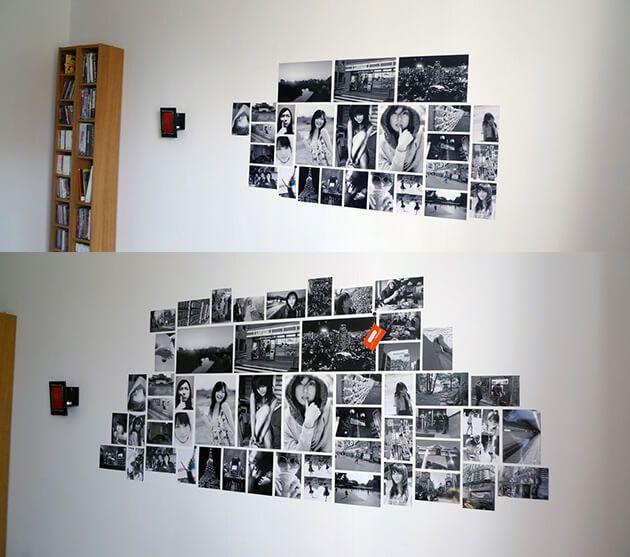 Коллаж из черно-белых фото