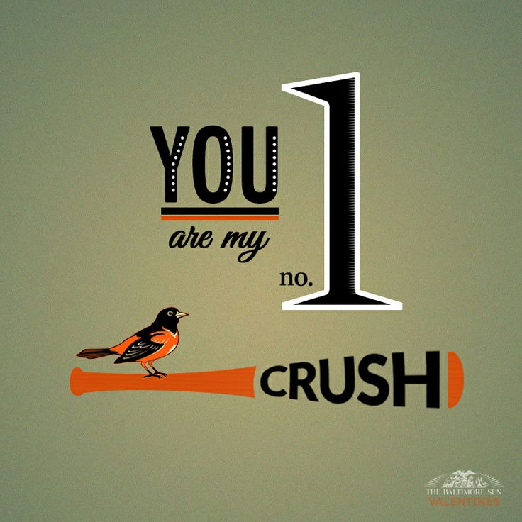 Number one crush Valentineu0027s Day card from