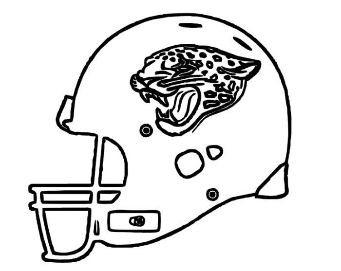 Coloring Helmet Jacksonville Jaguars Pages 2020 Football