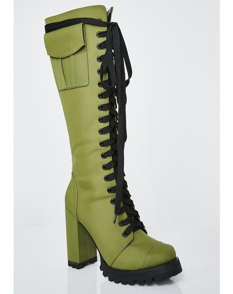 Hold Ya Down Military Boots Dollskill Postergrl Cargopants