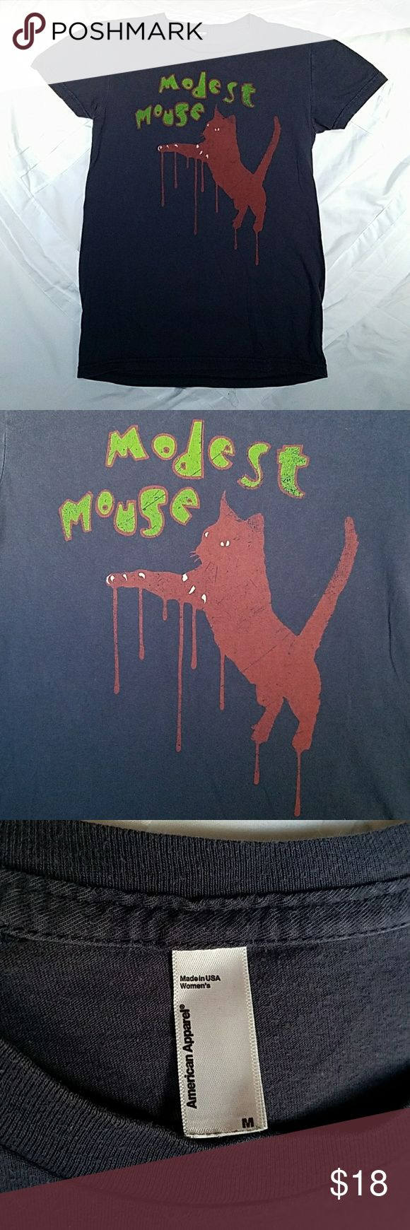 Modest Mouse fitted tour tee Navy tee in good condition  Got at a show Tops Tees - Short Sleeve