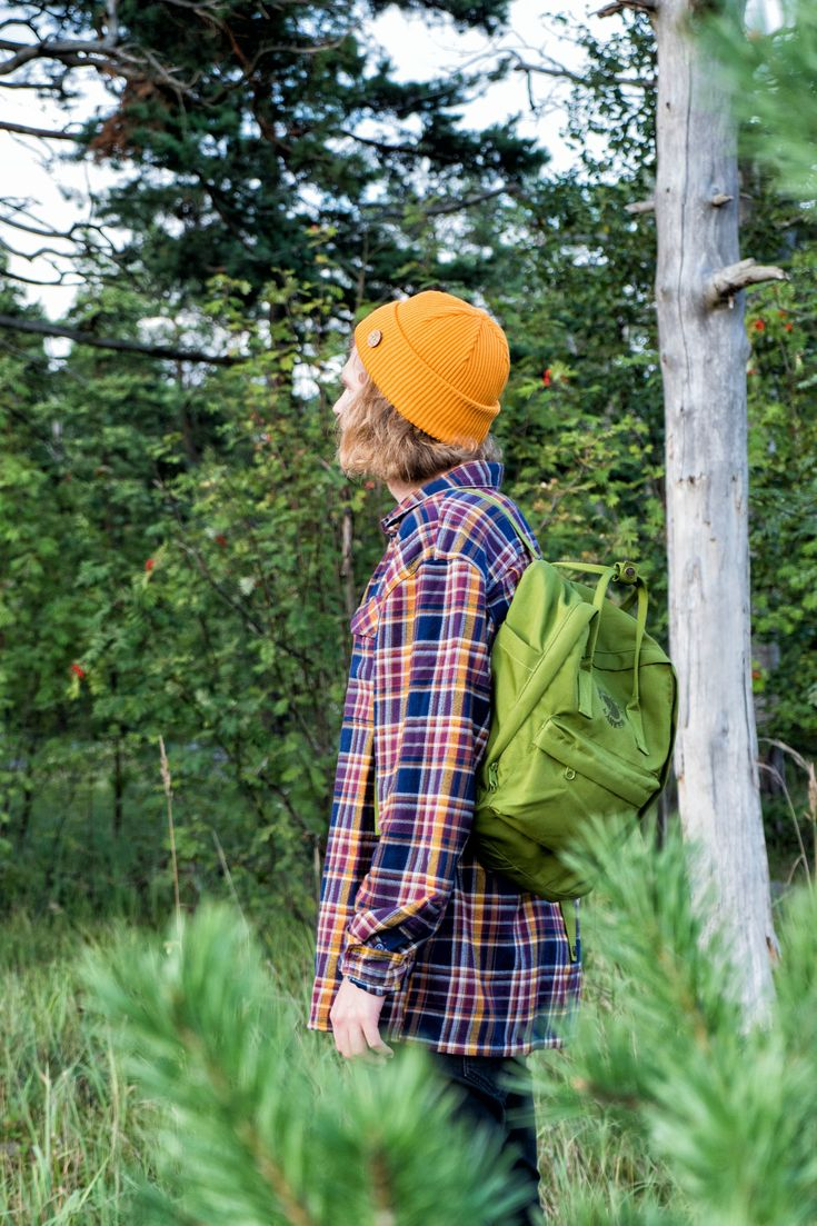 Wool beanie for Men. Summer outfit for Men. Hipster Hiking outfit.