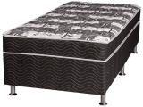 Cama Box Solteiro Ortobom Conjugado Mola - 40cm de Altura Mag Black