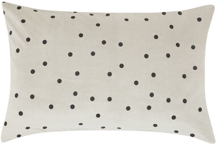 GREY SPOT VELVET PILLOWCASE – Castle and Things