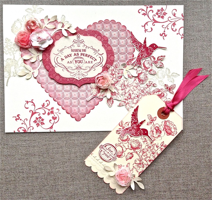 Could be used for a Valentine, birthday or anniversary. Stamp sets : Elements of Style By:JaneGoldman