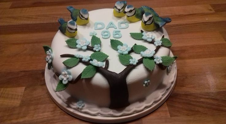 Bluetit cake for Dads 95th