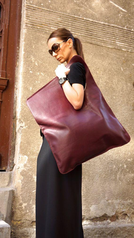 NEW Genuine Leather Black Bag / High Quality Tote by Aakasha