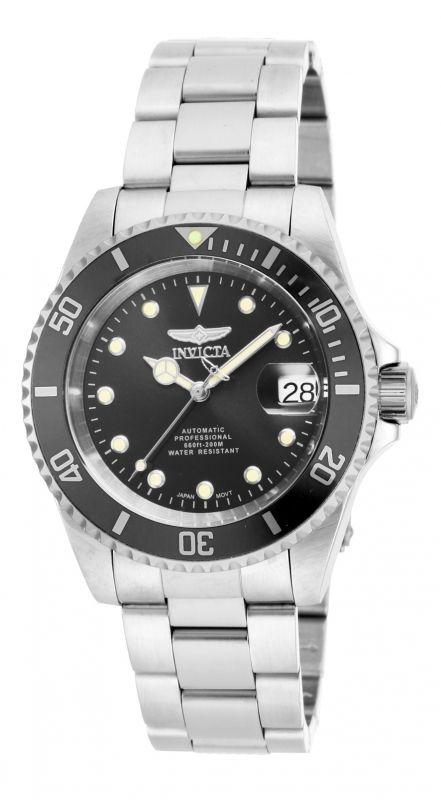 Invicta 17044 Pro Diver, un reloj casual con caja de 40 mm, brazalete de acero inoxidable y maquinaria automático.