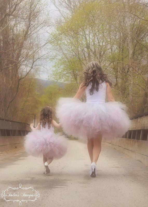 """Extremely Full Tutu """"Shabby Chic Vintage"""" waist up to 34 1/2"""" great for Mommy and me, Maternity tutus, Bridal and Bachelorette parties"""