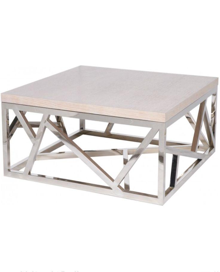 Geometric Coffee Table - Silver – Allissias Attic & Vintage French Style www.allissiasattic.co.uk