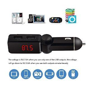 Amazon.com: Enegg Wireless Bluetooth Hands free Car Calling FM Transmitter MP3 Player with Car Charger for iPhone, Samsung, LG, HTC, Nexus, Motorola, Sony Android Smartphone or Tablet PC, iPad: MP3 Players & Accessories