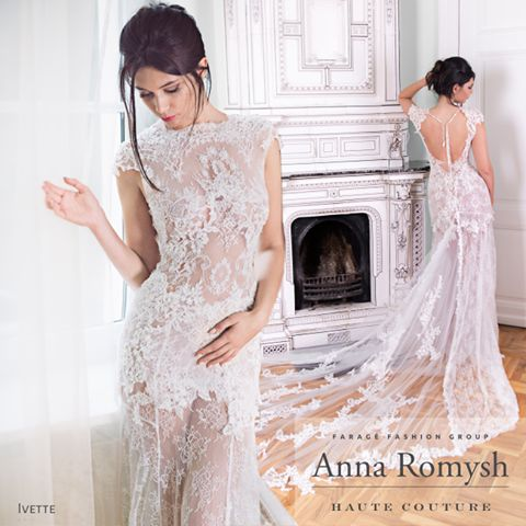 Anna Romysh Haute Couture collection – Ivette dress #ARHC #bridal #lacedress #lace #weddingdress #hautecouture #AnnaRomyshHauteCouture #backdress #train #suknieślubne #ślub