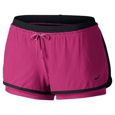 Pantaloni Abbigliamento fitness,Danza - Pantaloncini donna rosa-nero NIKE - Abbigliamento Palestra
