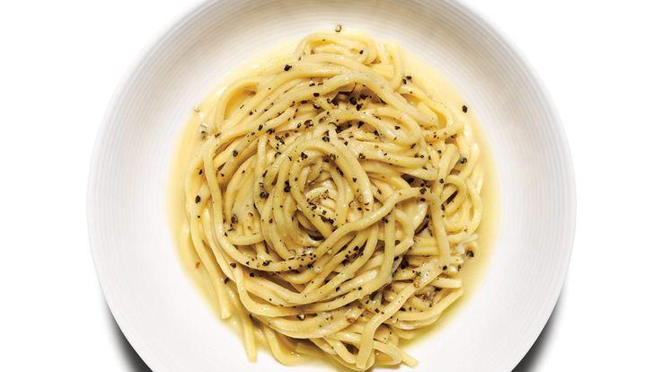 Cacio y pepe - Italian deliciousness. SO GOOD. We added sautéed veggies. Next time try mushrooms?
