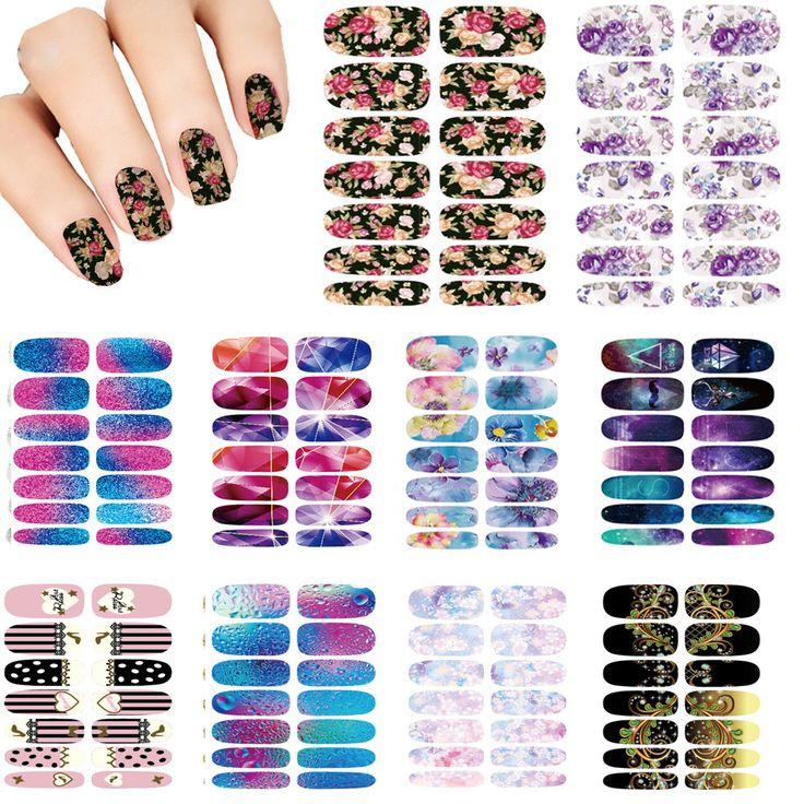 Nails Art fiore del Lotto Mistero Galassie Design stickers per le unghie Manicure Decor Autoadesivi Del Chiodo di Modo Avvolge Acqua Decalcomanie