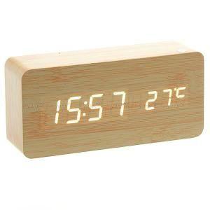 Horloge réveil digital avec température