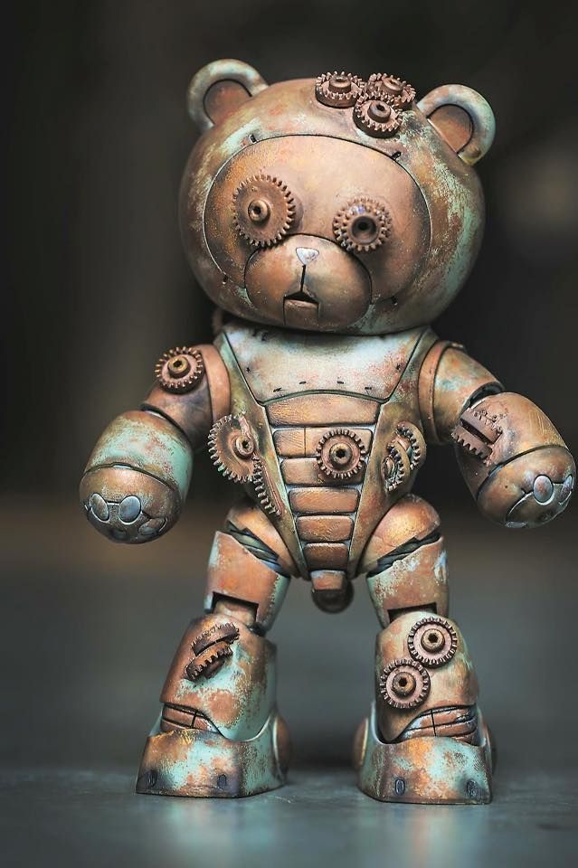 steampunktendencies:    Steampunk Bearguy by Kevin Tan