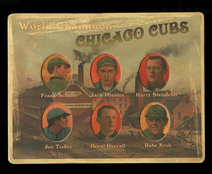 Helmar Die-Cut #50 Chicago Cubs Joe Tinker, Steinfeldt, Overall, KrohJoe Tinker, Helmar Die Cut, Chicago Cubs, Baseball Cards, Cubs Joe, Plays Ball, Cubs Baseball, Die Cut 50, Papier Amour