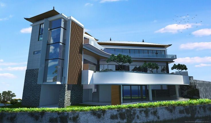 #architecture#villa#bali#goagong#seaview#backside#sketchup#vray#photoshop