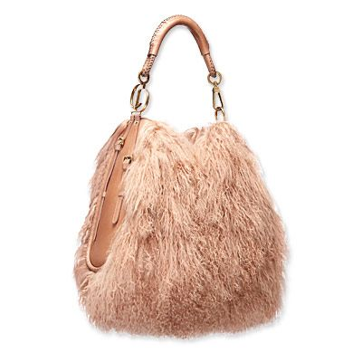 "Wow. Dior lambswool ""hobo"". Not any hobo I know. $4,600."