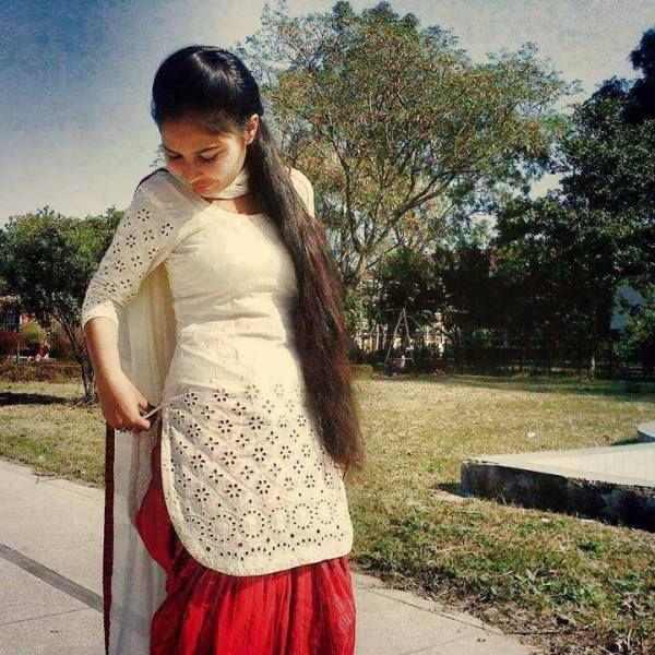 beautiful girl in punjabi dress