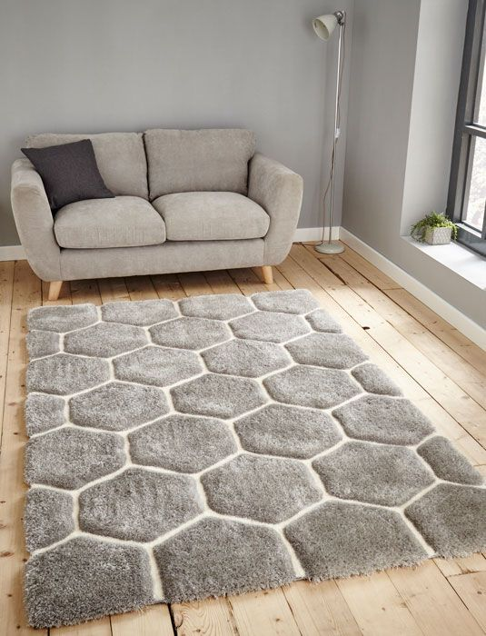 Le House Nh 30782 Grey White Rug From 99 Free Uk Delivery Shaggy Is Handtu Rugs In