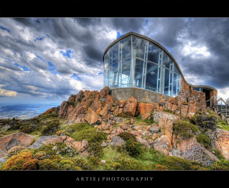 The Lookout Building at Mount Wellington, Hobart, Tasmania