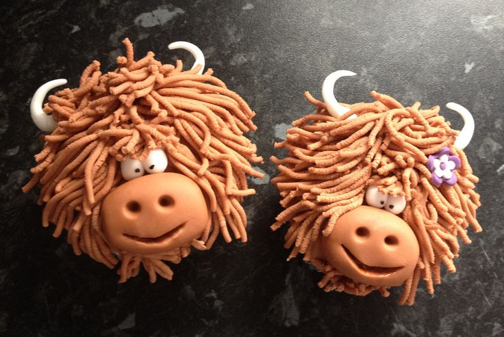 Highland Cow Cake Decorations