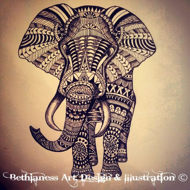 tribal elephant tattoo | Tattoos & Piercings | Pinterest