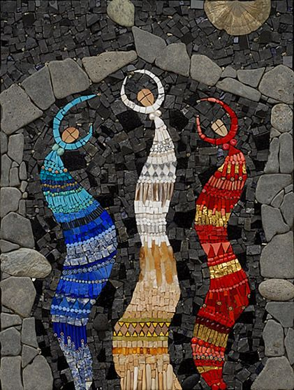 A high priestess in mosaic art - Irinia Charny.  Ancient Airs And Dances  ( lynna57 –  flickr )