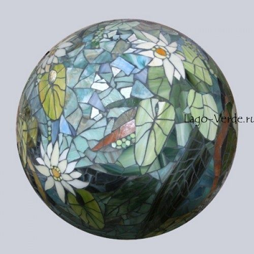Шары из мозаики для декора сада купить в интернет-магазине современной скульптуры для сада и интерьера