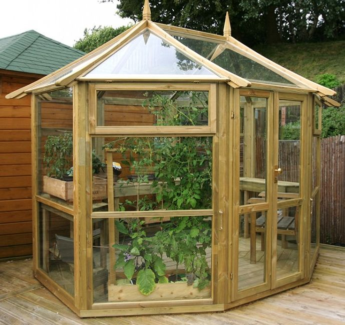 This attractive 8 sided Windermere Glass #Pavilion comes with two half-boarded doors and 3 opening windows. It will make an excellent addition to your #garden as well as an useful growing space for the #greenfingered amongst us!