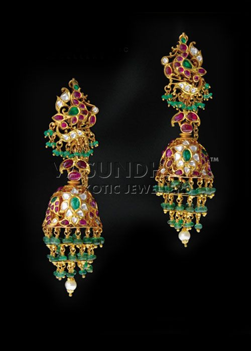 Indian Jewellery and Clothing: Exclusive eye catching designs from Vasundhara exotic jewellers..