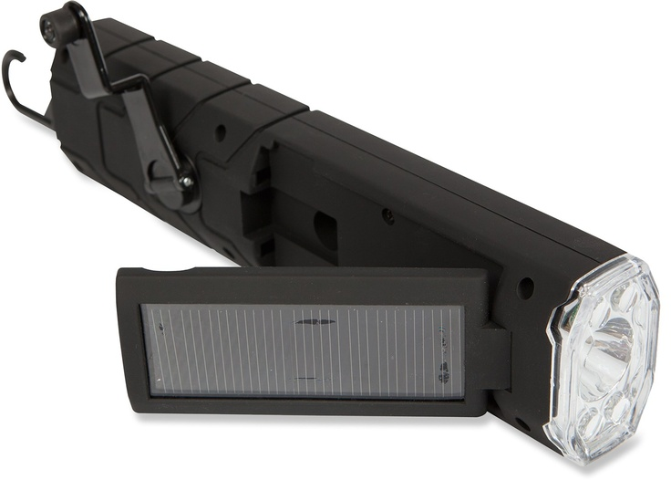 This flashlight has a rechargeable battery, crank charge or solar charge. Don't worry you'll be covered in any situation.