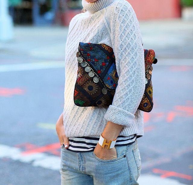 Layers by @Helena Glazer. gorgeous clutch bag.