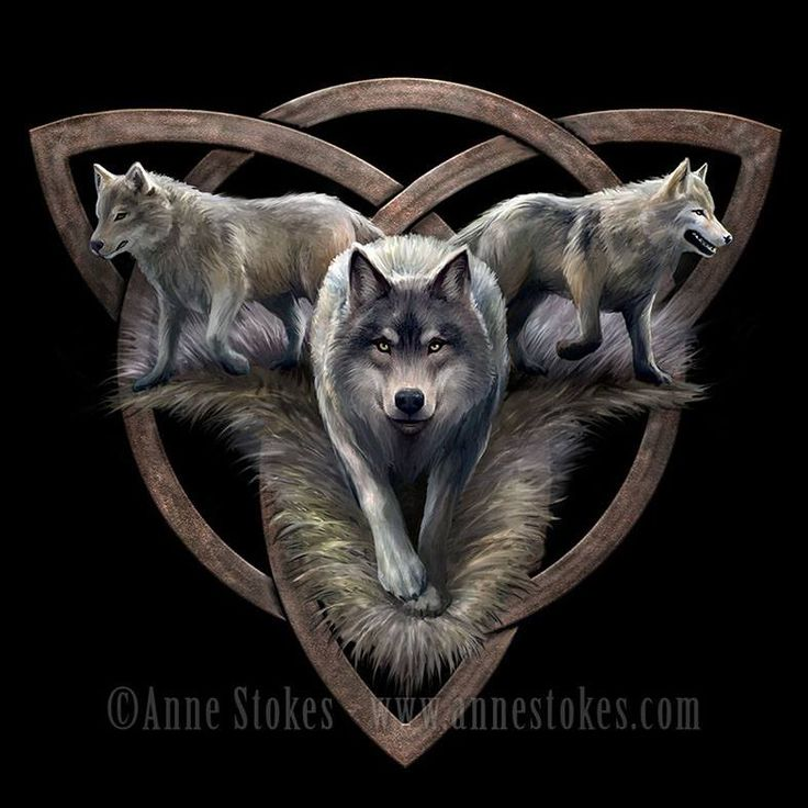 Wolf Trio par Anne Stokes