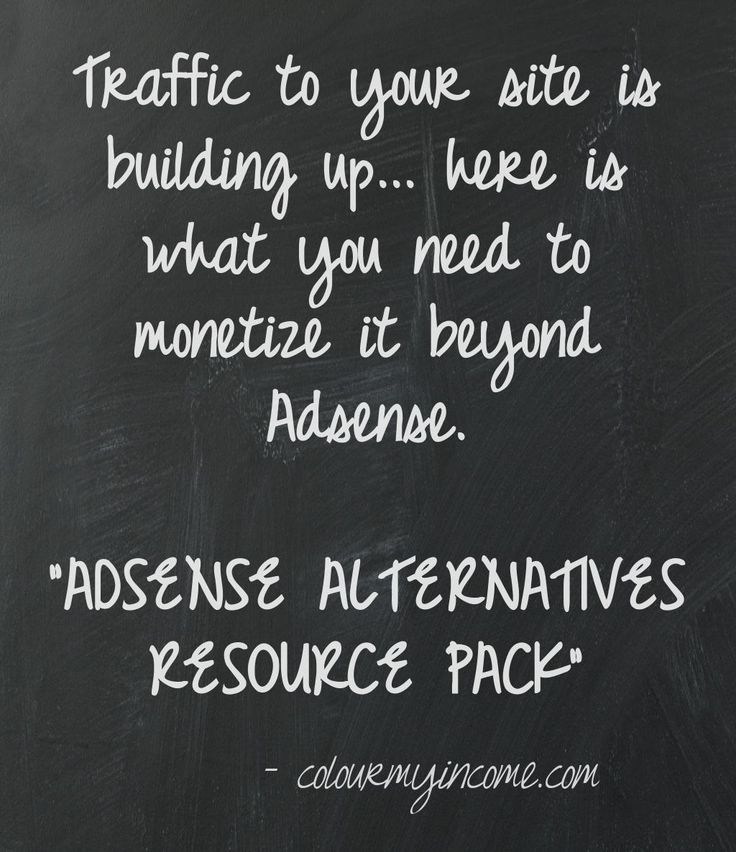 Free Adsense Alternatives Resource Pack - http://www.colourmyincome.com/2014/adsense-alternatives/