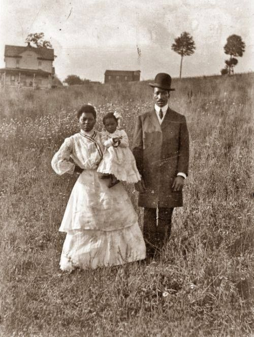 Unidentified African-American settler family on the American prairie, 1880s
